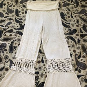 Organic Cotton Bell Bottom Prana Pants